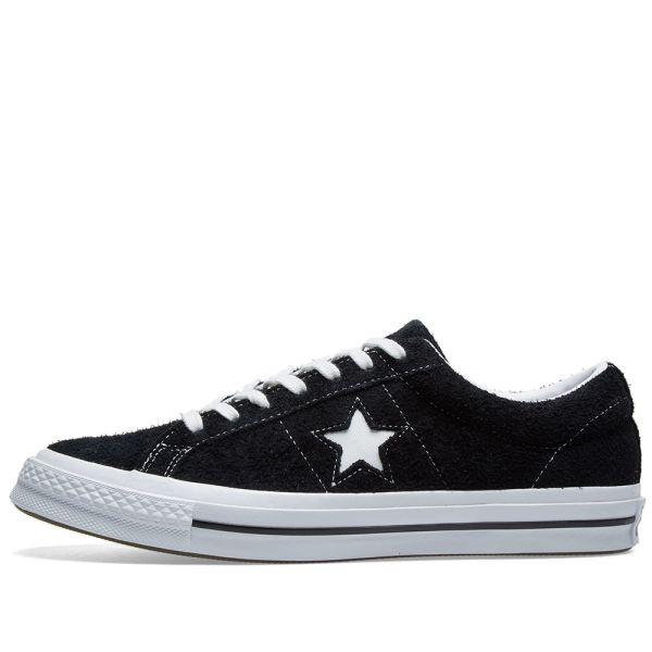 Dardos asustado Tiza  Converse One Star 74 Black & White | END.