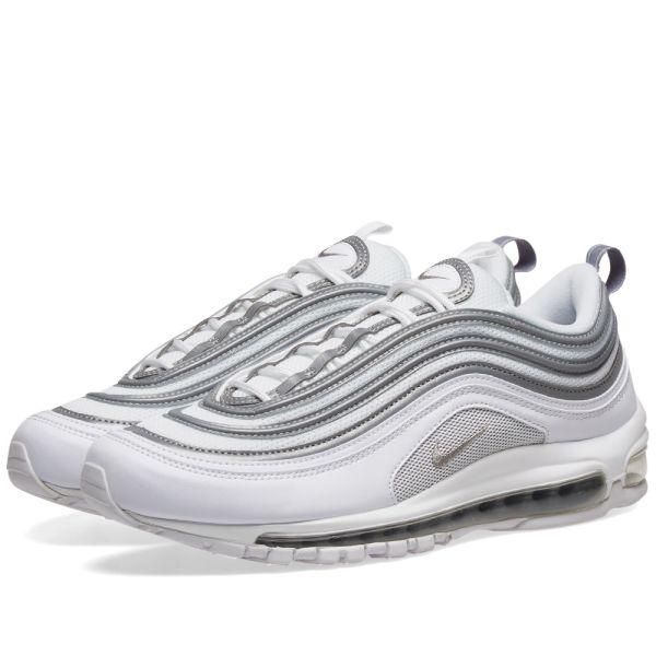 air max 97 white silver