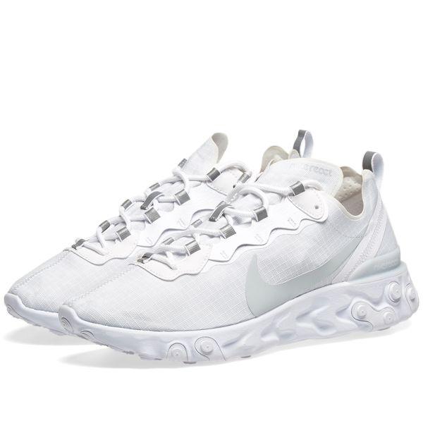 Encogimiento Vaciar la basura marcador  Nike React Element 55 SE White & Pure Platinum | END.