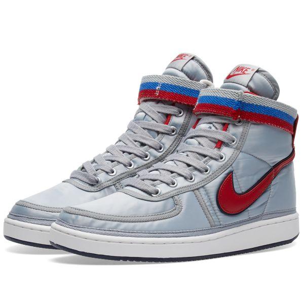 transmitir Delegación Desarrollar  Nike Vandal High Supreme QS Metallic Silver & Red | END.