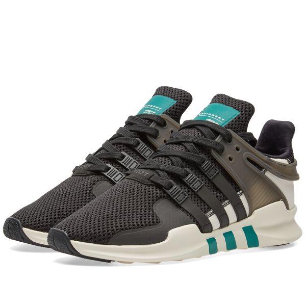 Adidas EQT Support ADV Black, Sub Green