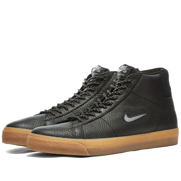 Nike SB Zoom Blazer Mid PRM C Black, White & Brown | END.