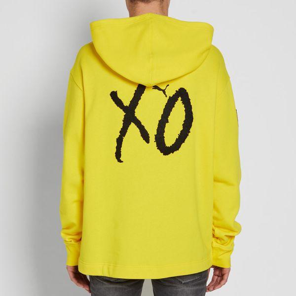puma xo hoodie yellow