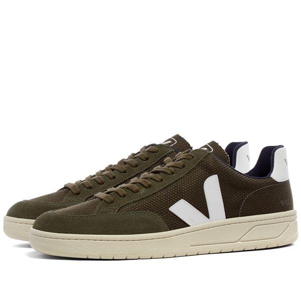 Veja V-12 Mesh Sneaker Olive \u0026 White | END.