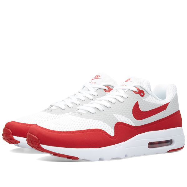nike air max 1 ultra essential red and white