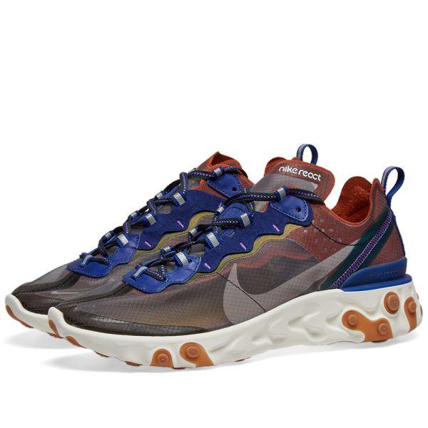 Nike React Element 87 Peach, Grey, Blue