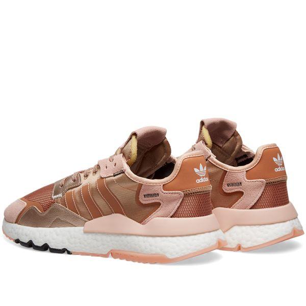 adidas nite jogger sneakers rose gold