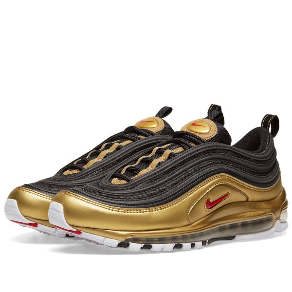 Nike Air Max 97 Qs Black Varsity Red Gold End