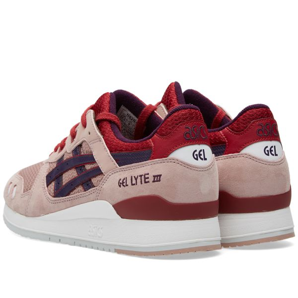 asics gel lyte iii adobe rose purple