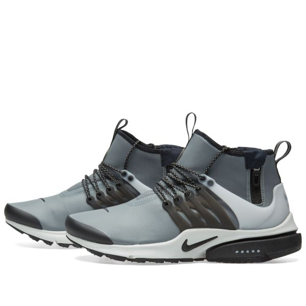 "Nike Air Presto Mid Utility ""Cool Grey"" 859524 001 Men's Size 12 Runner Shoes"