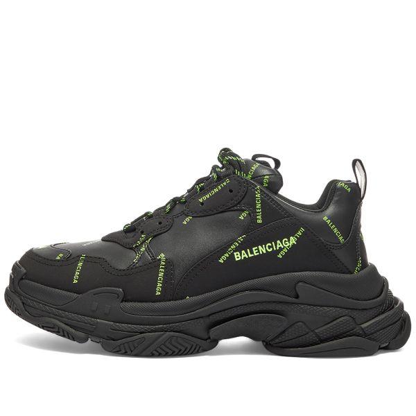 の「Balenciaga Triple S Mesh Suede And Leather Sneakers
