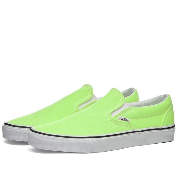 green slide on vans