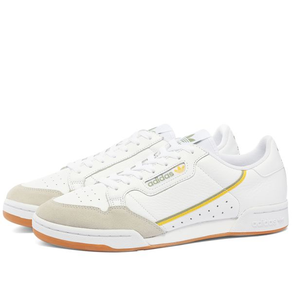 Adidas Continental 80 White \u0026 Gum | END.
