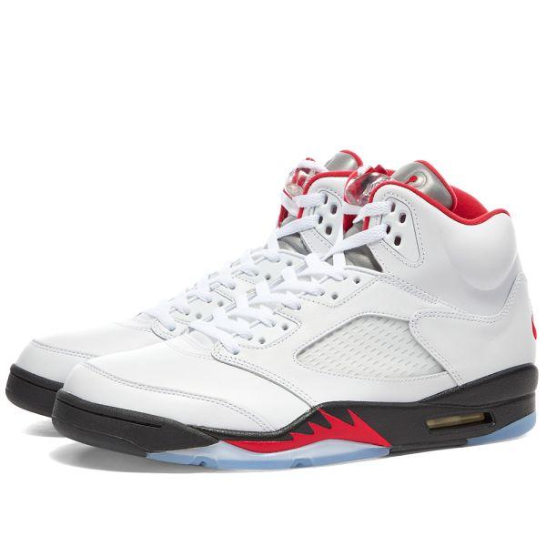 Air Jordan 5 Retro True White \u0026 Fire