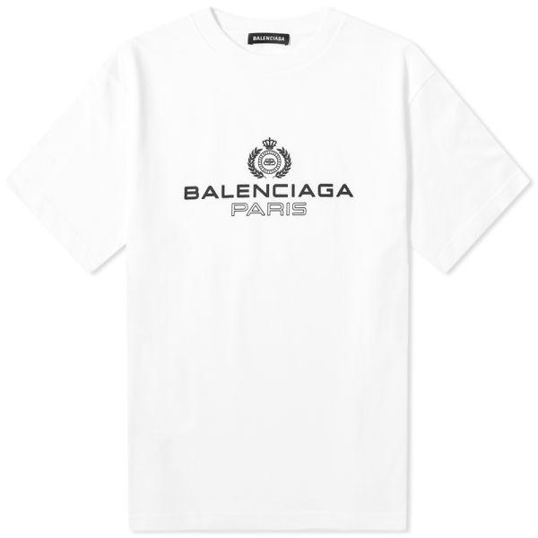 balenciaga paris white t shirt