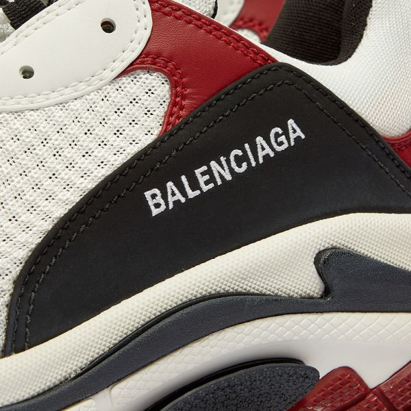 Balenciaga Triple S Black White Red 2018 Reissue dropout