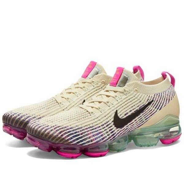 Nike Air Vapormax Flyknit 3 W Fossil, Pink \u0026 Blue | END.