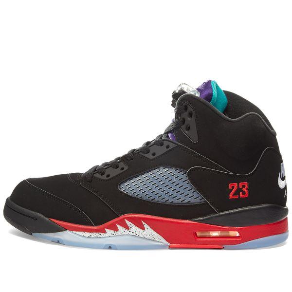 Air Jordan Retro 5 Black, New Emerald
