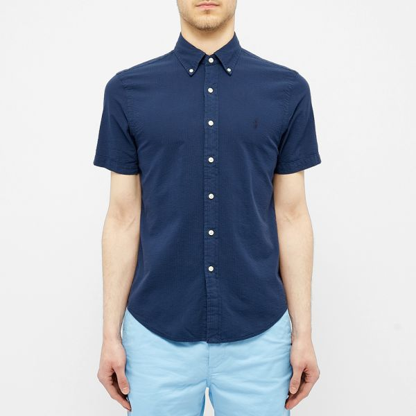 Polo Ralph Lauren Short Sleeve Slim Fit Seersucker Shirt Astoria